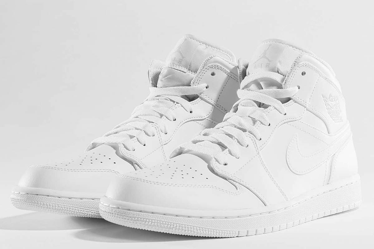 nike jordan air jordan 1 wit witte sneakers heren