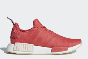 adidas nmd_r1 dames rood rode sneakers dames