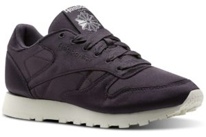 reebok classic leather satin dames paars paarse sneakers dames