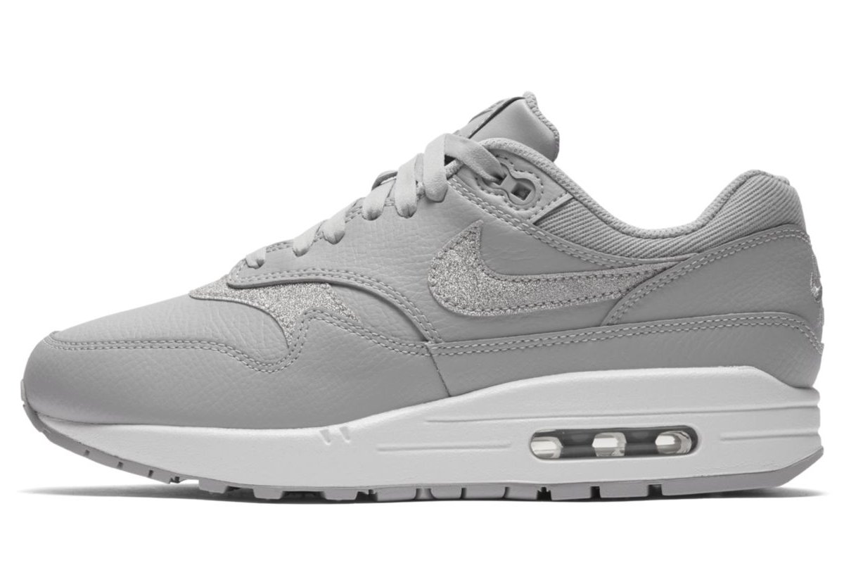 Nike Air Max 1 Essential Dames wit grijs karmozijn