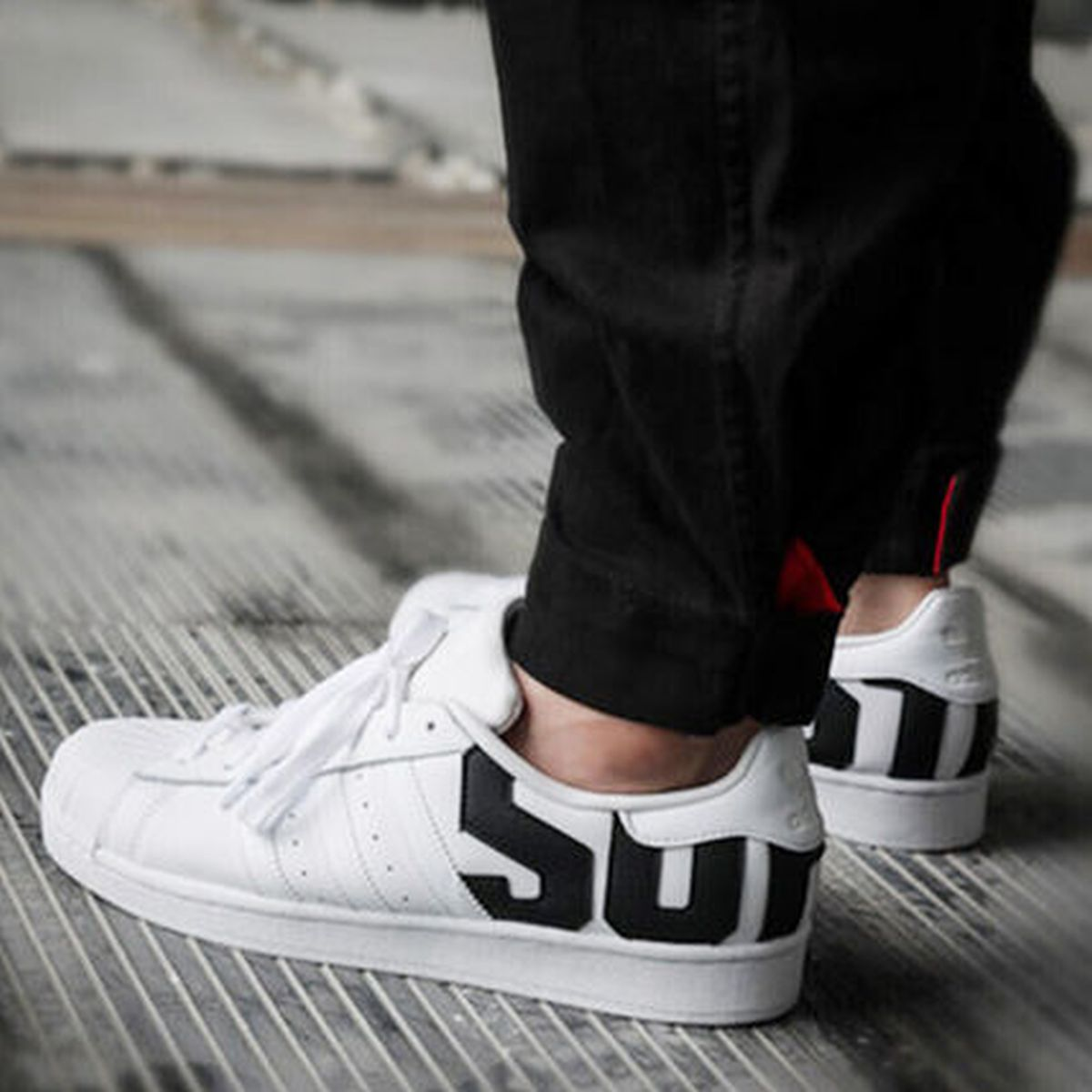 Adidas superstar sst wit B37978