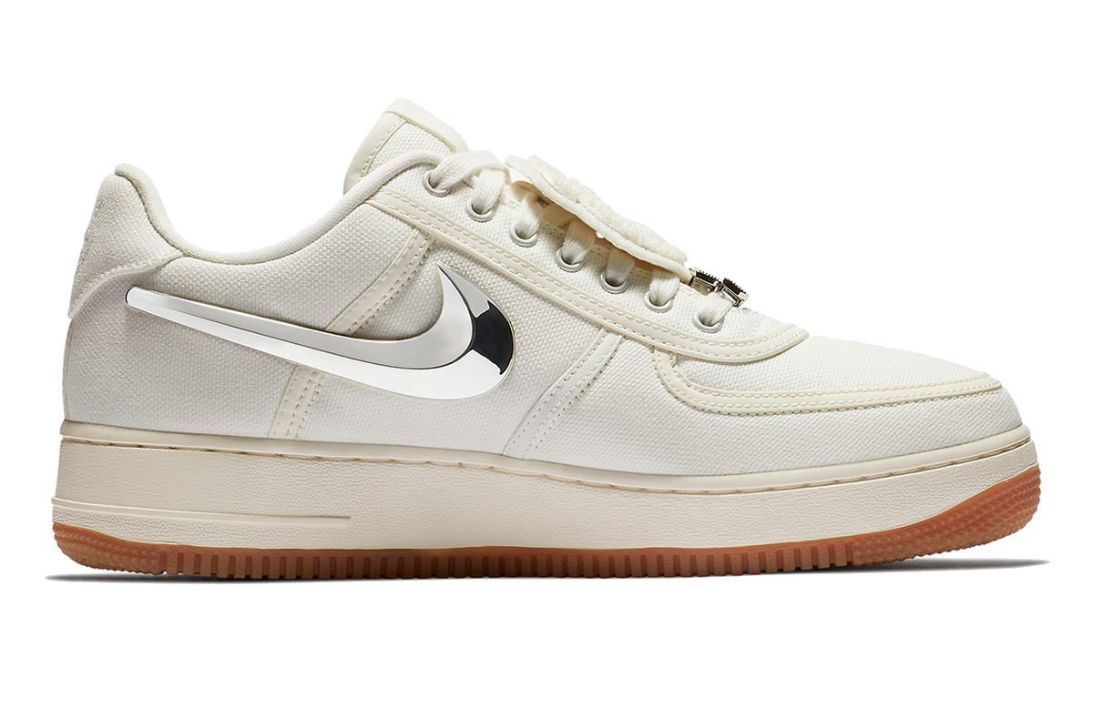? . Release: Nike Air Force 1 Travis Scott Sail · Sneakerwijzer
