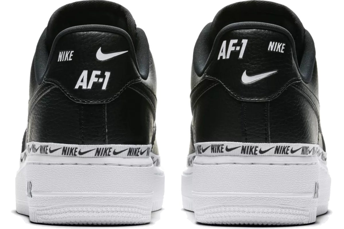 ? . Release Nike Air Force 1 Damen Schwarz Overbranded