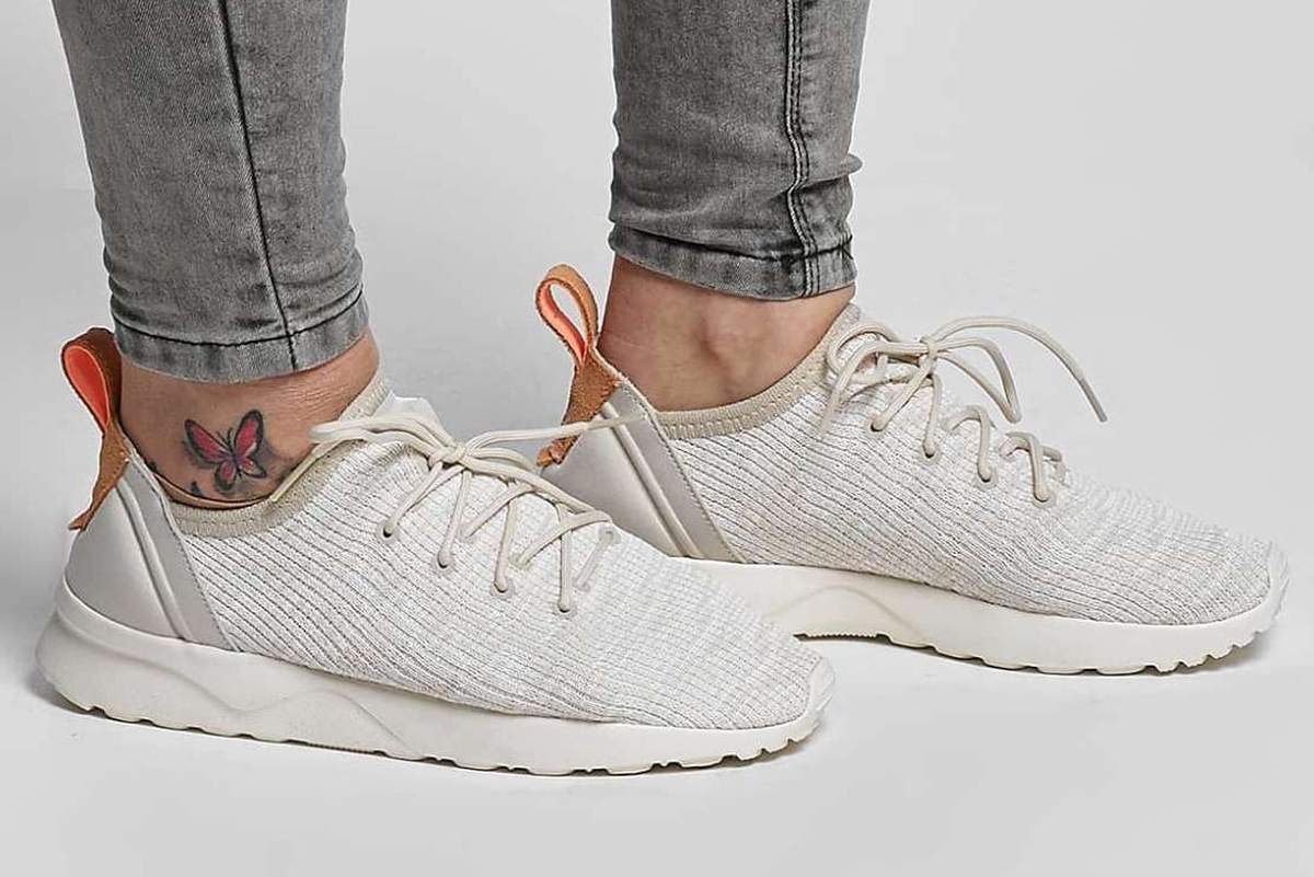 super cheap high fashion dirt cheap ᐅ • Review: Adidas ZX Flux ADV Virtue Sock Beige, verfijnd ...