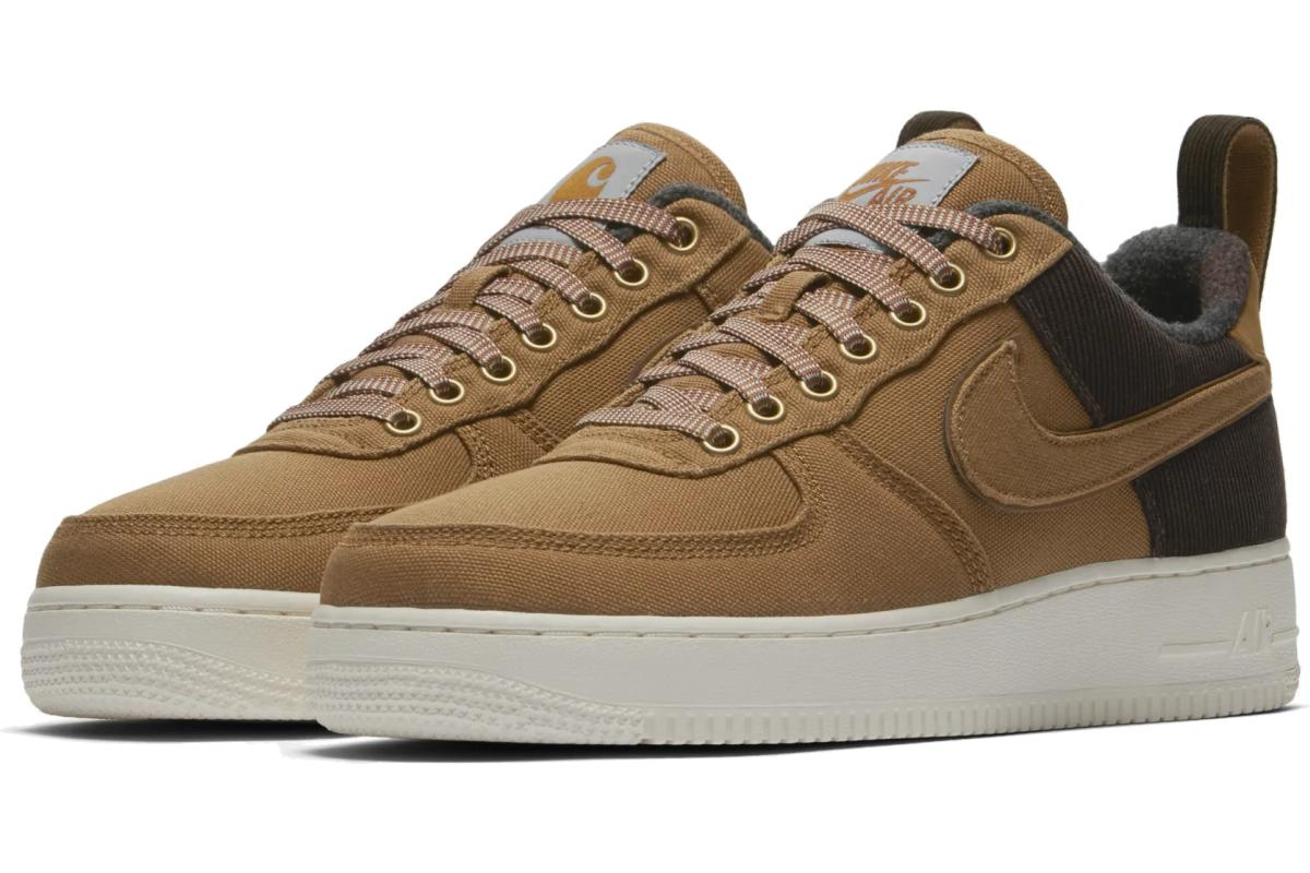Nike X Carhartt Wip Air Force 1 Heren Bruin Av4113 200 1
