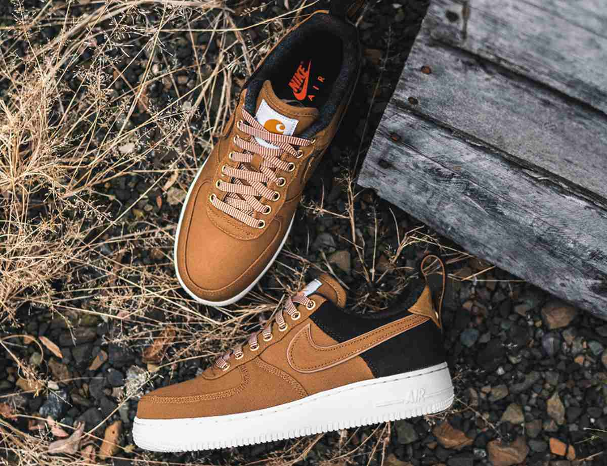 Nike X Carhartt Wip Air Force 1 Heren Bruin Av4113 200 10