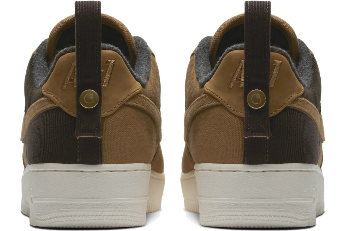Nike X Carhartt Wip Air Force 1 Heren Bruin Av4113 200 2