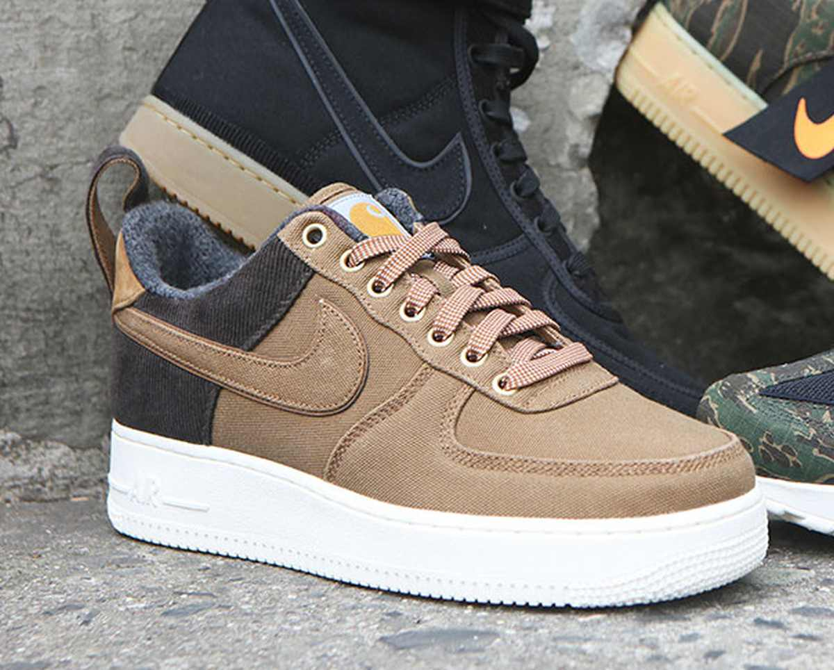 Nike X Carhartt Wip Air Force 1 Heren Bruin Av4113 200 21