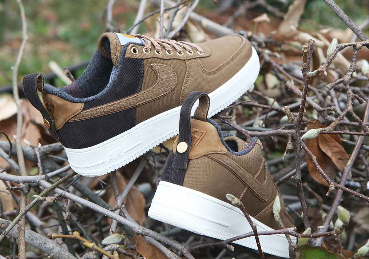 Nike X Carhartt Wip Air Force 1 Heren Bruin Av4113 200 23