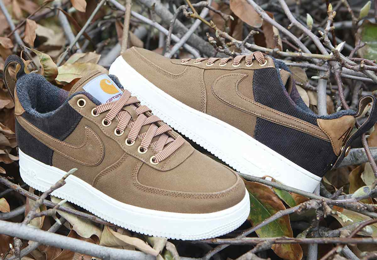Nike X Carhartt Wip Air Force 1 Heren Bruin Av4113 200 24