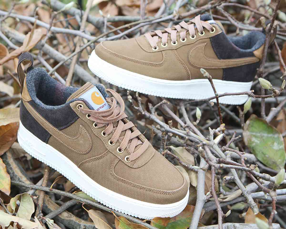 Nike X Carhartt Wip Air Force 1 Heren Bruin Av4113 200 25