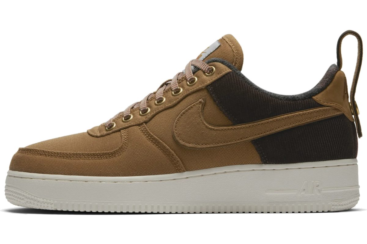 Nike X Carhartt Wip Air Force 1 Heren Bruin Av4113 200 3