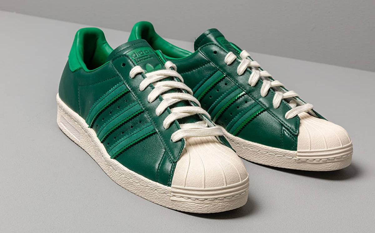 Adidas Superstar Heren Groen 80s Bd7368