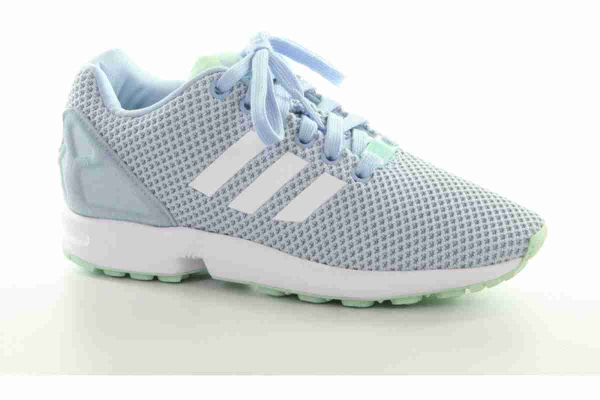 sports shoes 263ed 3685a adidas-zx flux-dames-blauw-aq3068-blauwe-sneakers-dames