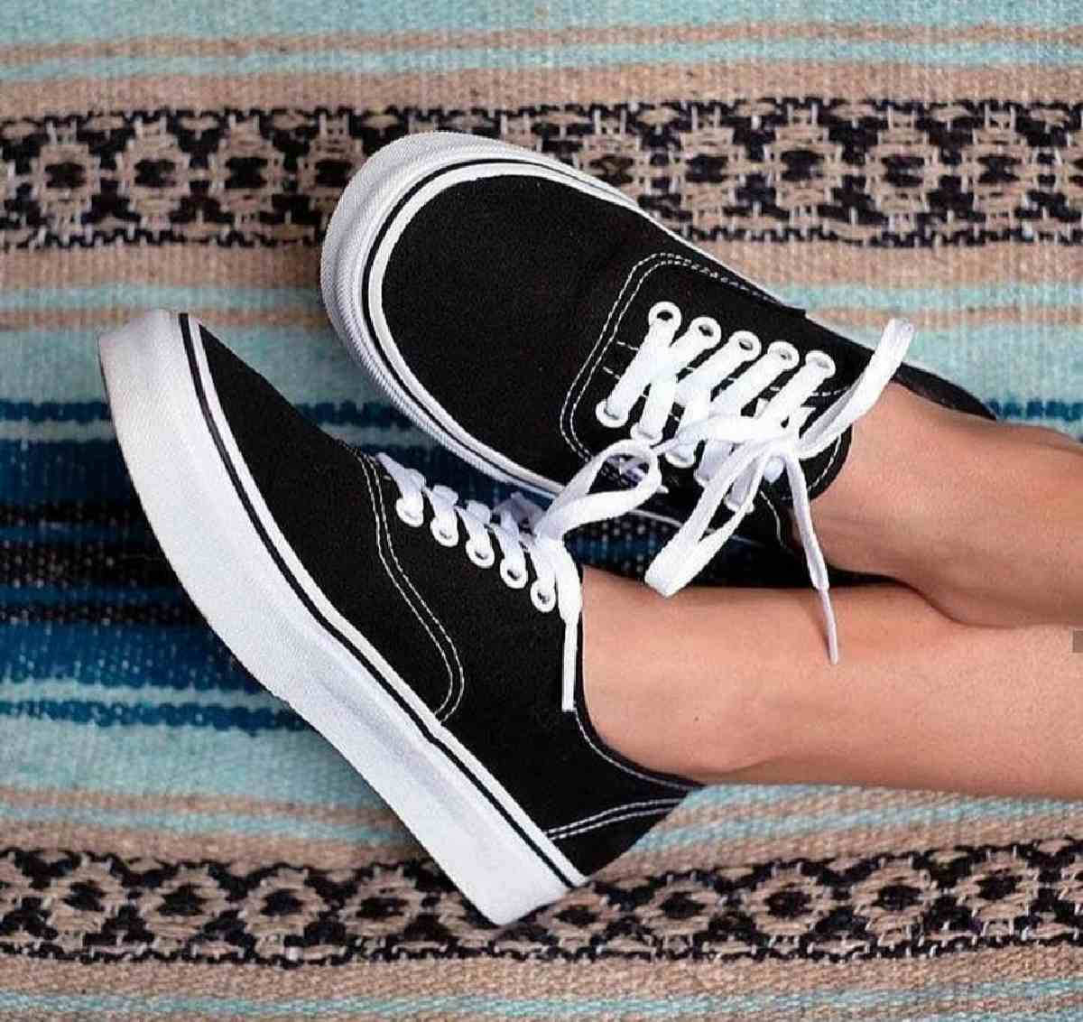 Vans Authentic Zwart Dames Heren Vn0a3479a6o 8