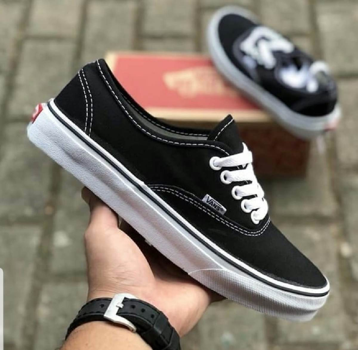 Vans Authentic Zwart Dames Heren Vn0a3479a6o 9