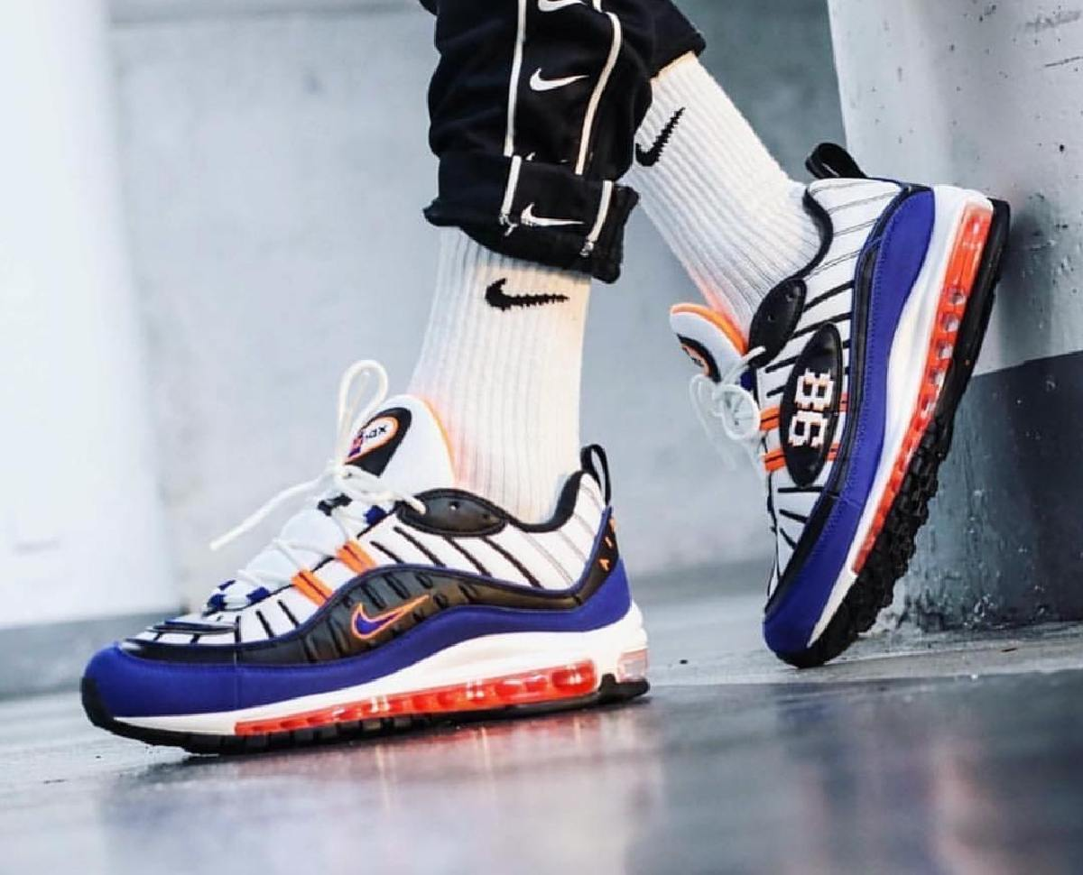 Nike Air Max 98 Multicolor Cd1536 100 Deep Royal Blue 2