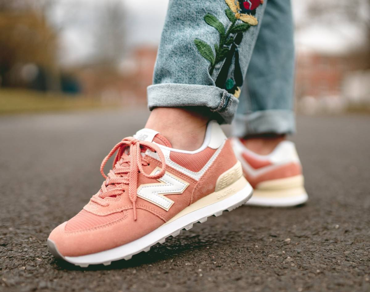 New Balance Wl574esf Orange Weiss 698561 50 13 Mood 1