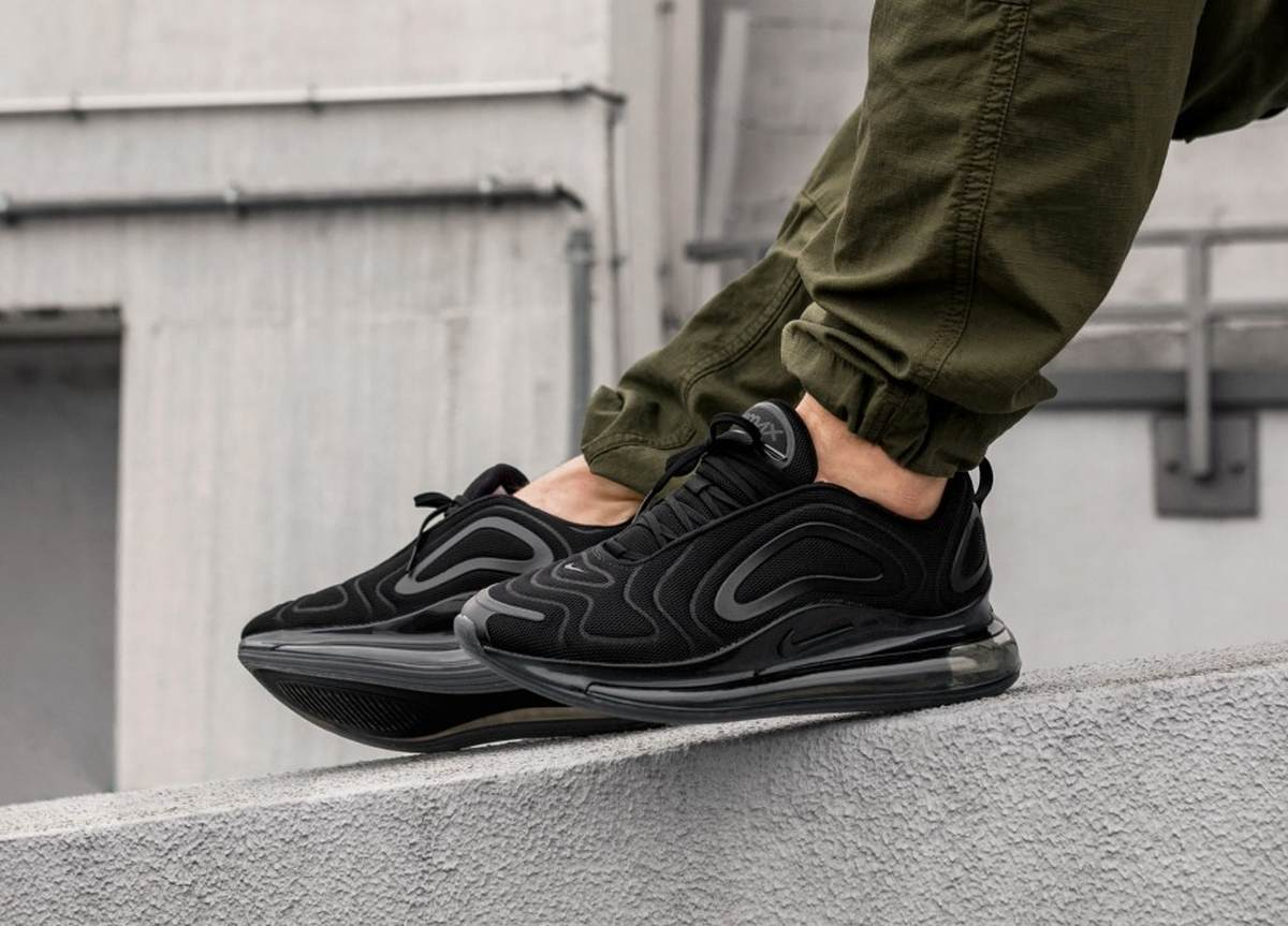 Nike Air Max 720 Triple Black Black Black Anthracite Ao2924 007 1 1