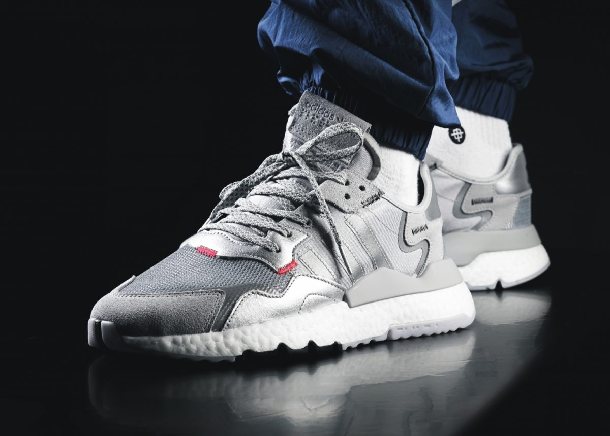 Adidas Nite Jogger Silver White Ee5851 Mood 1
