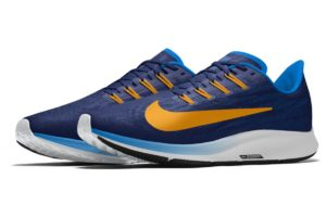 Nike Air Zoom Heren Blauw Bq7974 991 Blauwe Sneakers Heren