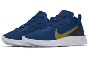 Nike React Element Dames Blauw Cj1497 991 Blauwe Sneakers Dames