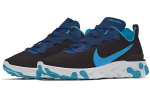 Nike React Element Heren Blauw Cj1496 991 Blauwe Sneakers Heren