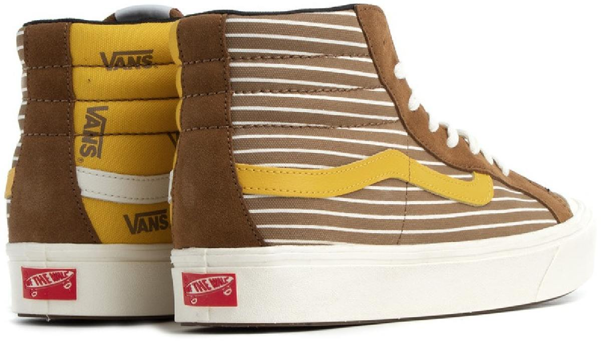 Vans UA ComfyCush Style 138 Lx Old Gold Vn0a4btkvx81 Vans Hi Tops Mens Brown