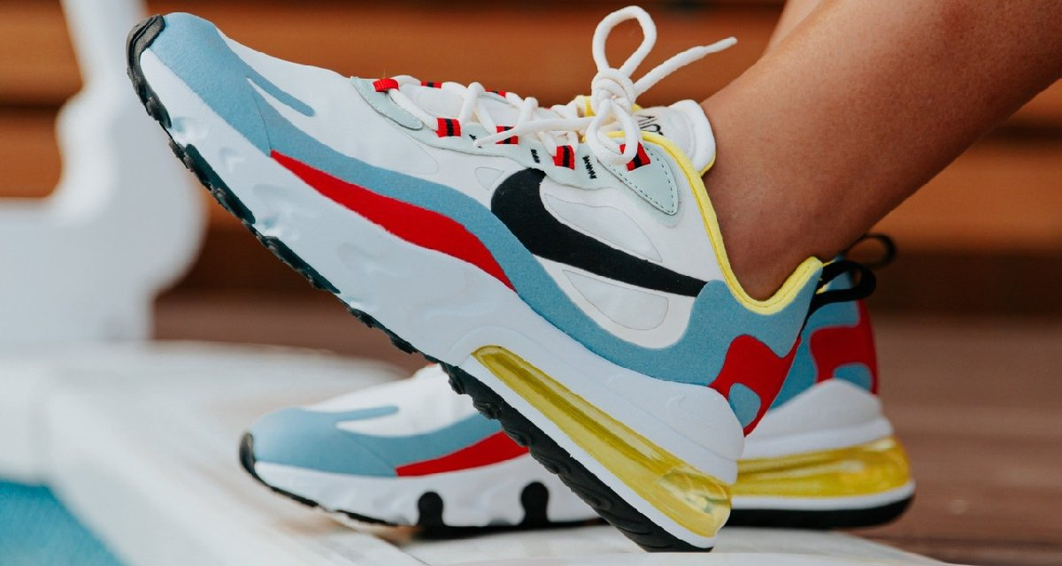 Nike Air Max 270 React Wit Dames At6174 002 4