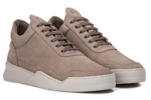 Filling Pieces Low Top Dames Bruin Filling Pieces Low Top Ghost Suede Taupe Bruine Sneakers Dames