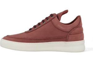 filling pieces-low top-dames-rood-filling pieces low top plain lane nubuck maroon-rode-sneakers-dames