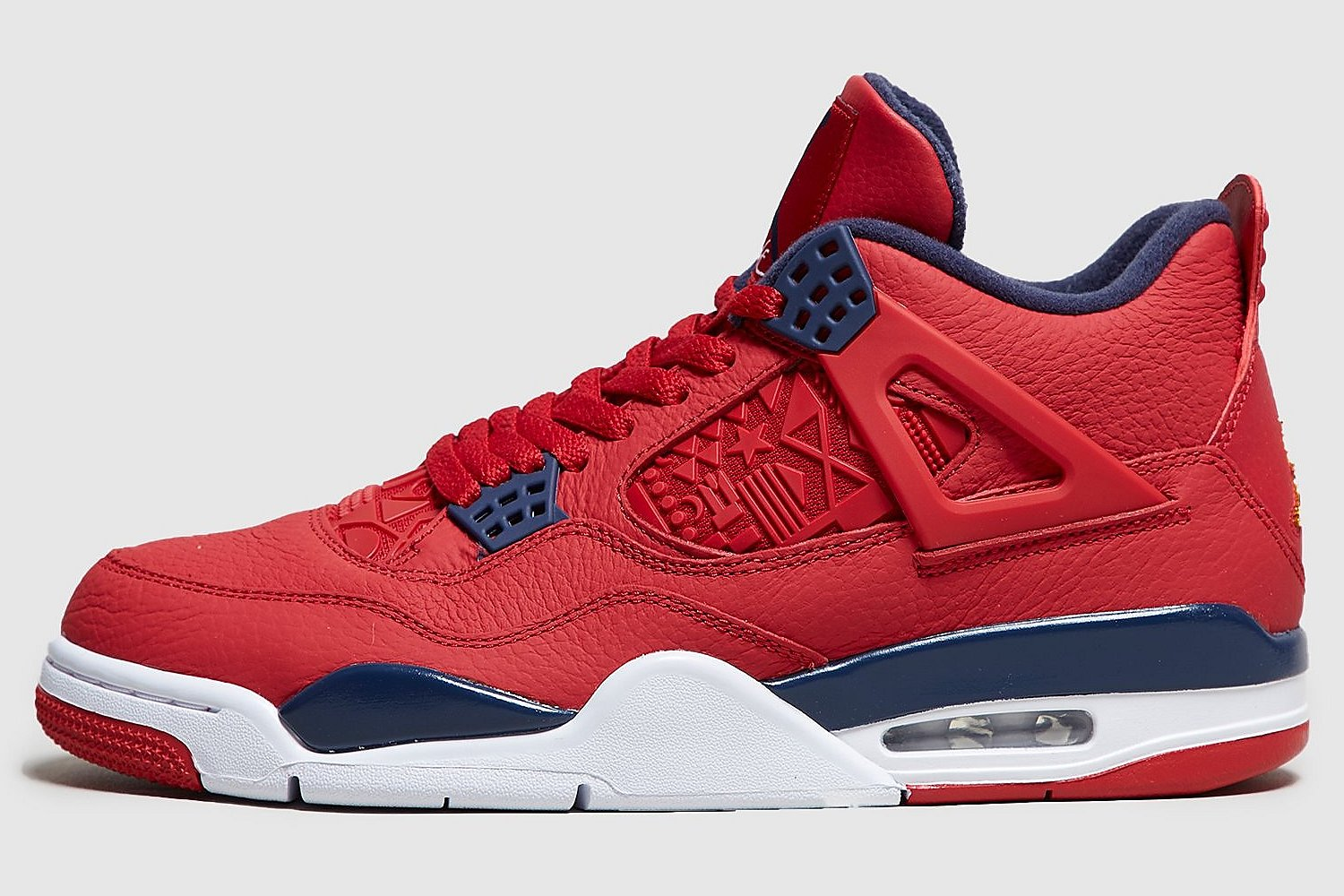nike-jordan air jordan 4-heren-rood-ci1184-617-rode-sneakers ...