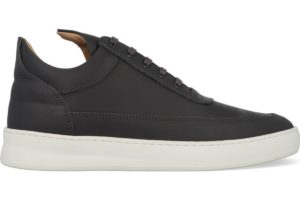 filling pieces-low top-heren-blauw-filling pieces low top plain matt nappa antracite-blauwe-sneakers-heren