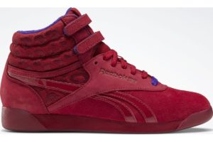 reebok-freestyle hi x museum mammy-Dames-rood-FV1014-rode-sneakers-dames