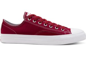 converse-suede ollie patch all stars pro low top-dames-rood-167607c-rode-sneakers-dames
