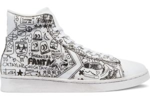 converse-pro leather-dames-wit-171731c-witte-sneakers-dames